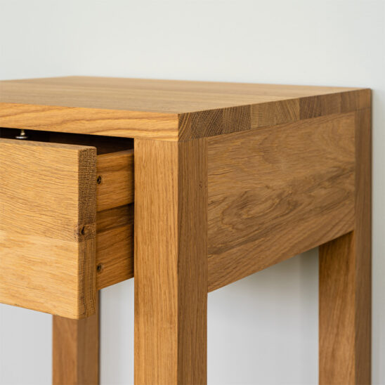 modern nightstand, wooden nightstand, oak nightstand, wooden bedside table