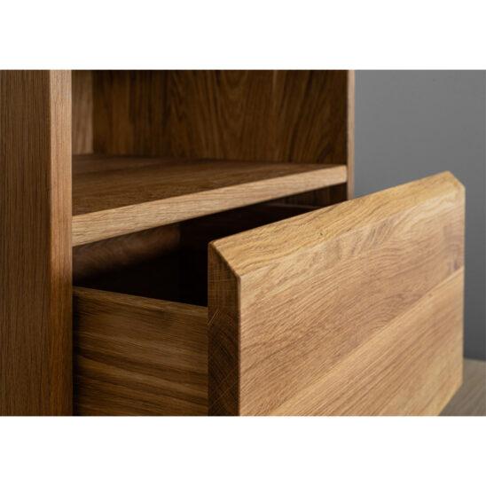 modern nightstand, wooden nightstand, oak nightstand, wooden bedside table
