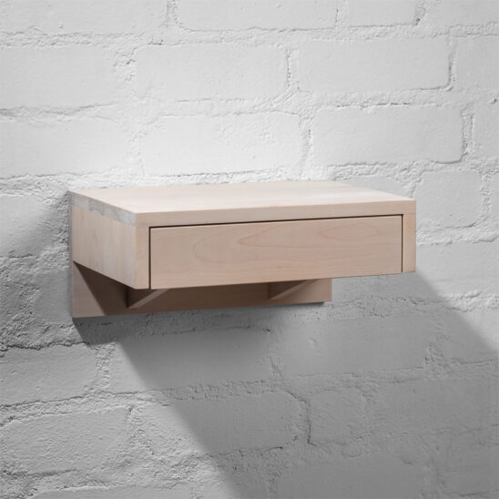 Floating nightstand, nighstand, white nighstand, bedside table, wooden bedside table